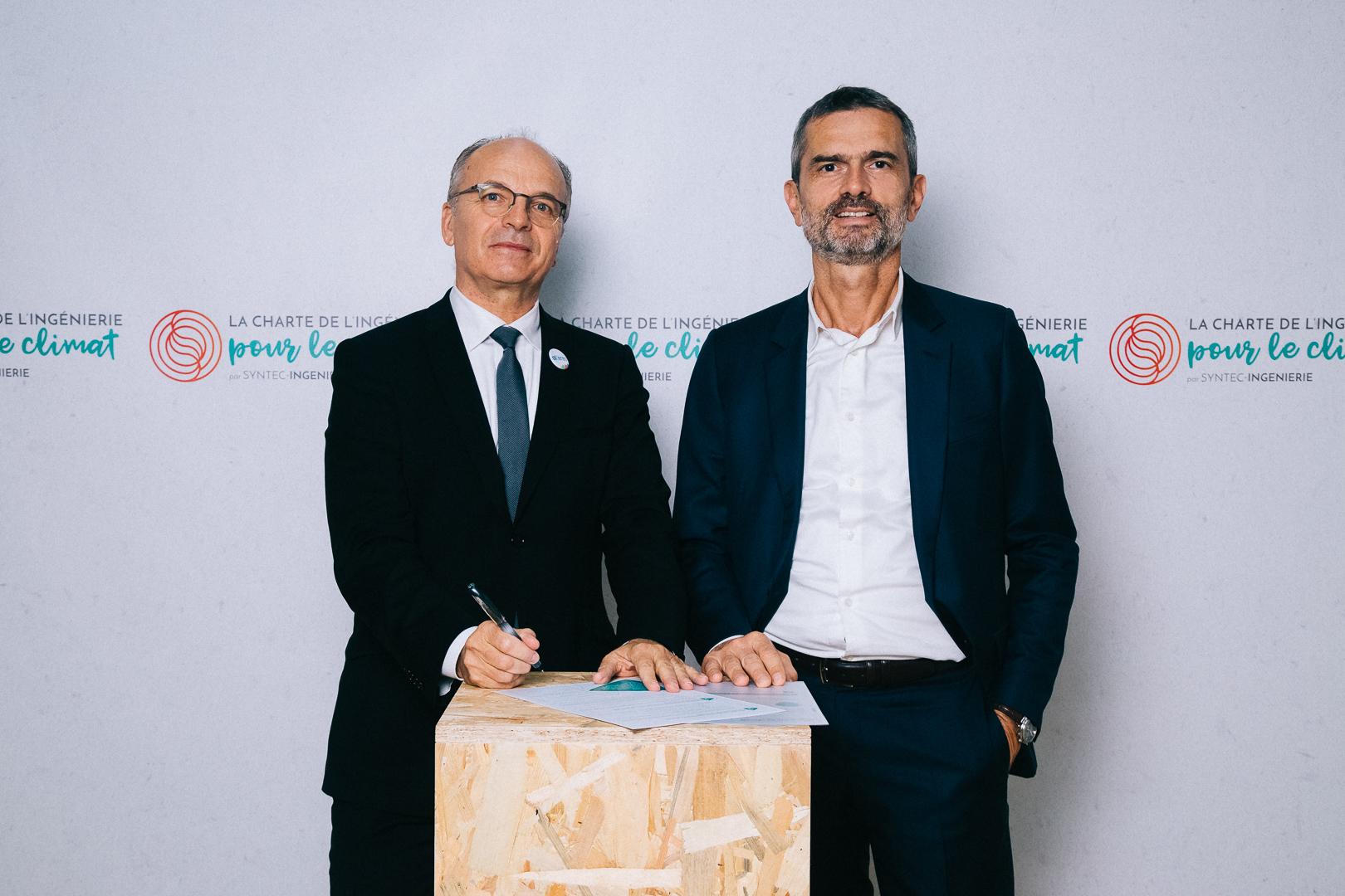 Altereo signe la Charte de l'ingénierie pour le Climat - Christian Laplaud PDG - Gilles Brunschwig DG © Sarah Bastin / Syntec-Ingénierie