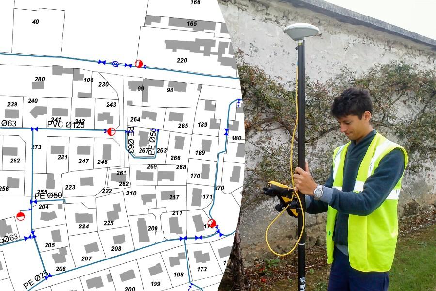 Altereo G2C ingénierie Eau Inventaire patrimonial plan réseau GPS cartographie