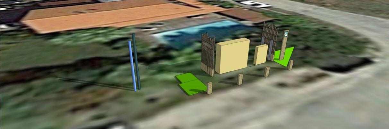 Vue aerienne de l'amenagement du poste reste a terre